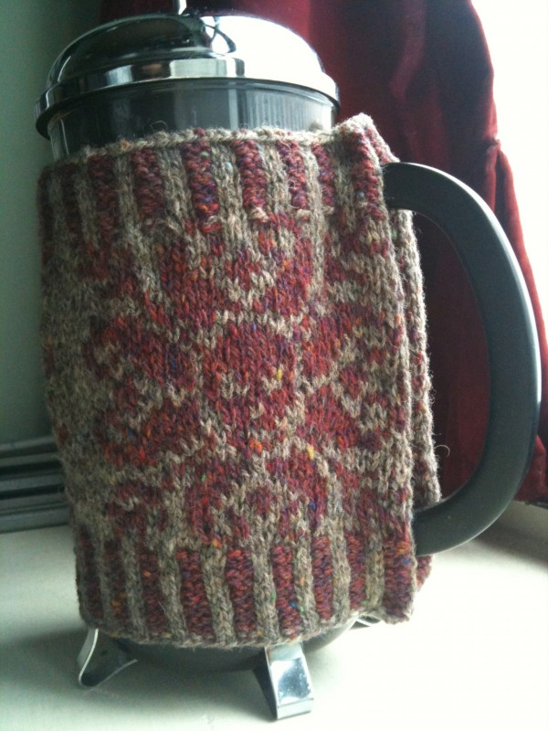 Coffee press cosy for Neil